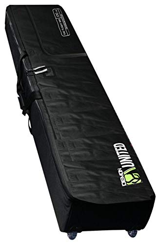 (Demon United 2020 New Phantom Flight Snowboard Travel Bag- Double Snowboard Bag for Airport Travel- Snowboard Bag Fully Padded with XL Sized Wheels Ultra Durable for Airline Travel)