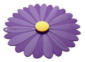 "Charles Viancin Daisy Silicone Lid - Daisy - 9"" - Purple"