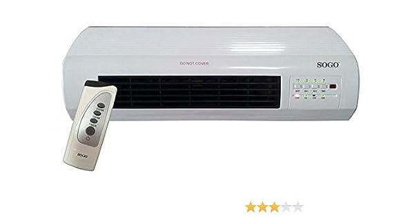 Sogo CAL-SS-18350 Calefactor PTC de pared con ventilador, 2000 W ...