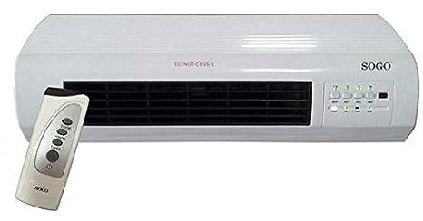 Sogo CAL-SS-18350 Calefactor PTC de Pared con Ventilador, 2000 W, Blanco: Amazon.es: Hogar