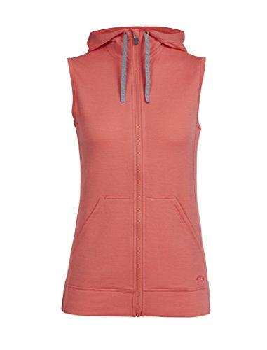 (Icebreaker Merino Women's Dia Vest Sweater, Tulip, Small)