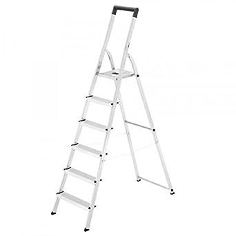 Hailo 0005252 Modelo L40 Escalera de Tijera, Fabricada en Aluminio, EasyClix, Versión de 6 Peldaños: Amazon.es: Industria, empresas y ciencia