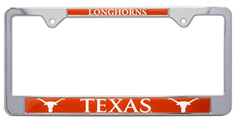 All Metal NCAA UT Longhorns Mascot License Plate Frame (Texas)