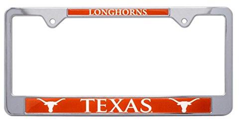Metal License Plate Texas Longhorns - All Metal NCAA UT Longhorns Mascot License Plate Frame (Texas)