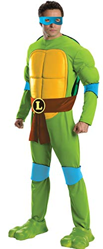 Rubie's Men's Teenage Mutant Ninja Turtles Deluxe Adult Muscle Chest Leonardo, Green, Standard -