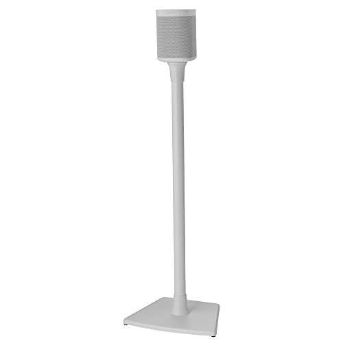 Sanus Wireless Sonos Speaker Stand for Sonos One, PLAY:1, & PLAY:3 - Audio-Enhancing Design With Built-In Cable Management - Single Stand (White) - WSS21-W1 by Sanus