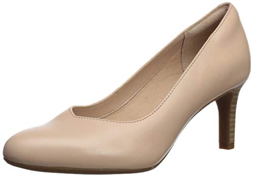CLARKS Women's Dancer Nolin Pump, Blush Leather, 070 M US