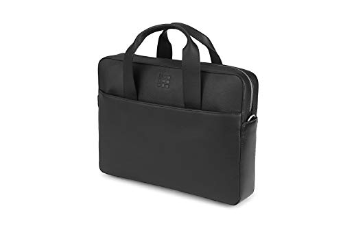 Classic Slim Briefcase - Moleskine Classic Leather Slim Briefcase, Black -  For Work, School, Travel & Everyday Use, Space for Devices, Tablet, Laptop, & Chargers, Notebook Planner or Organizer, Secure Zipper