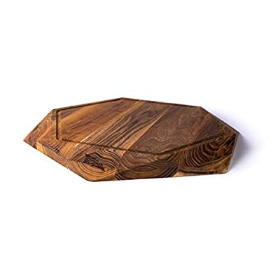 Image of Cutting Boards Edge of Belgravia Teak Star Wood Cutting Board 45 x 45 x 4 cm with Juice Trench