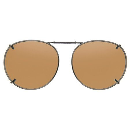 Cocoons Polarized Clip-on Round 2 L539A Sunglasses, Bronze, 54 - Clip Cocoon Sunglasses On