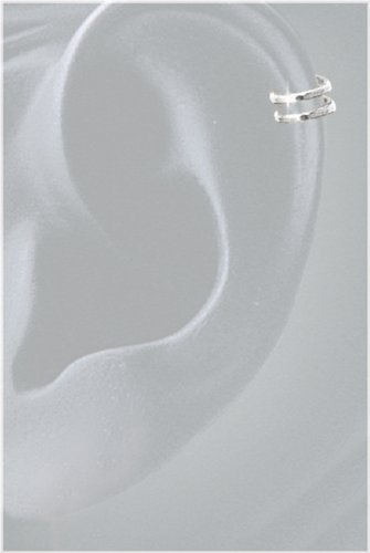 Earwrap® (tiny two band Earcuff) 6DSS Sterling Silver - Solid Sterling Silver Slip