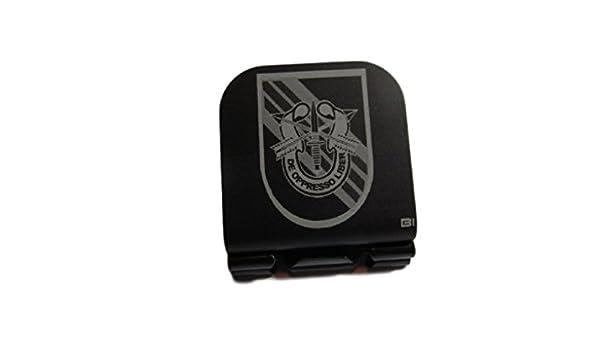 5th Special Forces Group Crest Laser Etched Aluminum Hat Clip Brim-it