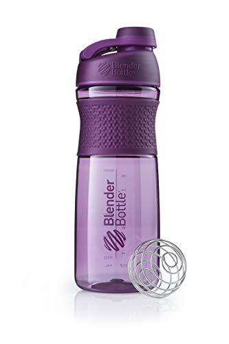 BlenderBottle SportMixer Twist Cap Tritan Grip Shaker Bottle, 20-Ounce, Plum (Sport Mixer)