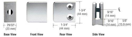 (CRL Z-Series Chrome Zinc Small Square Glass Clamp)