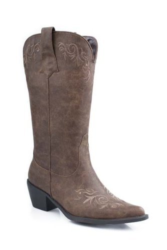 Distressed Western Boot - Roper Women's Western Embroidered Fashion Boot Tan 10.5 B - Medium