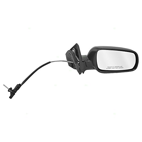 Passengers Manual Remote Side View Euro Type Mirror with Clear Split Glass Replacement for Volkswagen 1J1857508P01C Golf Mirror Passengers Side Manual