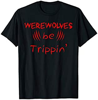 Halloween Trick Treat Werewolves Tripping T-shirt | Size S - 5XL