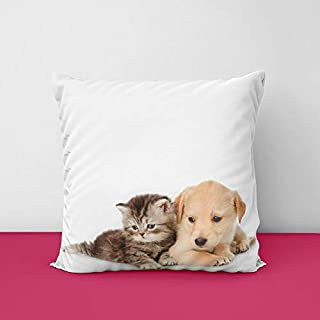 31ozARn6XgL. SS320 Cat & Dog Square Design Printed Cushion Cover