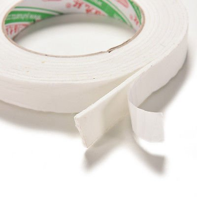 (utp 1 Roll White 1.8x300cm Double Sided Tapes Foam Super Strong Adhesive Sticky Tape)