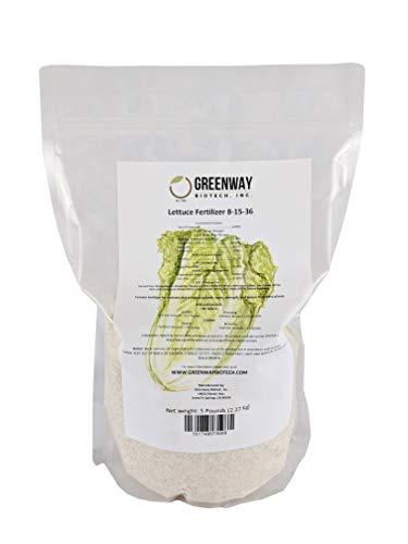 5 Pounds Lettuce Fertilizer 8-15-36 Powder 100% Water Soluble Plus Trace Minerals