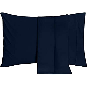 Utopia Bedding Brushed Microfiber Pillowcases - 20 by 30 inches Pillow Covers (Pack of 2, Queen, Navy)