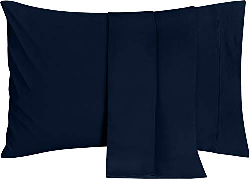 Utopia Bedding Pillowcases - 2 Pack - Soft Brushed Microfiber Fabric- Wrinkle, Shrinkage and Fade Resistant Pillow Covers (King, Navy)