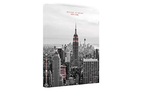 New York Skyline at Night Canvas Wall Art - Landscape Wall Art Poster Canvas Prints Framed Ready to Hang for Home Bathroom Bedroom Office Decor-12