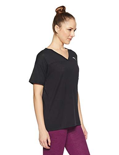 Puma Tee Boyfriend Femme Pour shirt T Heather Black rxXqRr
