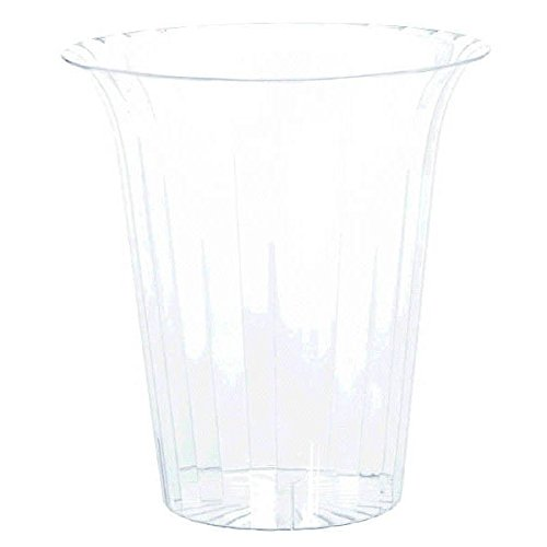 Amscan 437885.86 Cylinder Large Flared Container, 1 piece, Clear