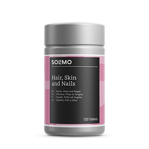 Amazon Brand - Solimo Hair, Skin & Nails Multivitamins and Minerals with Cysteine and Grape Extract Food Supplement, 120 Tablets