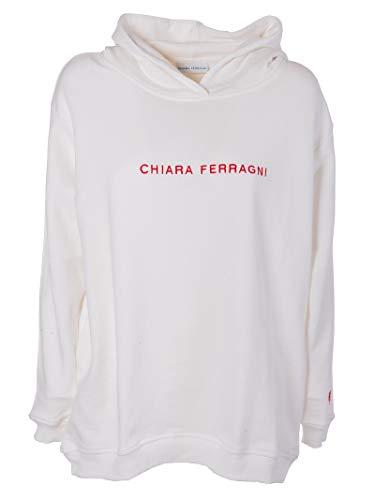 Ferragni Cff033white Bianco Felpa Cotone Donna Chiara qdHtRwxCq