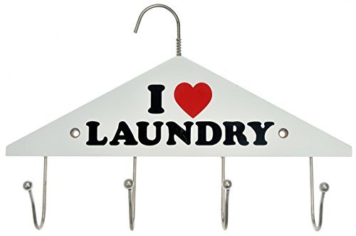 Dorman Hardware 4-2933 Four Hook Hanger I Love Laundry by Dorman Hardware