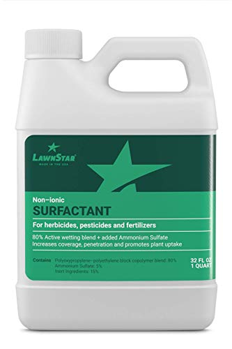 LawnStar Non-Ionic Surfactant for Herbicides, Pre-Emergents & Fertilizers (32 OZ) - Increase Coverage, Penetration, Prevent Rolloff and Maximize Product Performance - American Made