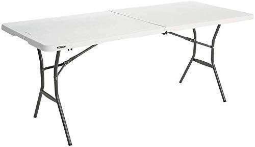 LIFETIME Multiusos, Resistente, UV100, blanco, Mesa plegable 184 x 76 x 73,5 cm, 80471