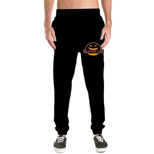 Dreamting Mens Sweatpants - Casual Gym Workout Halloween Town Track Pants Comfortable Slim Fit Sweatpants Pockets -