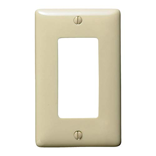 (Hubbell 1-Gang Ivory Single Decorator Wall Plate)