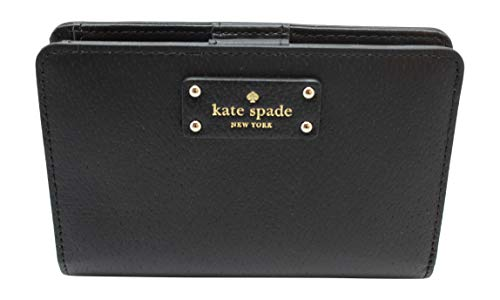 Kate Spade New York Tellie Grove Street Embossed Leather Wallet (Black)