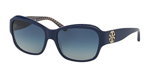Tory Burch Women's TY7107 Sunglasses Navy/Blue Zig Zag / Blue Gradient - Burch Tori Sunglasses