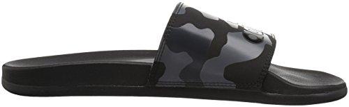 Adidas Mens Adilette Cf + Link Gr Sandalo Sandalo Nero, Ftwr Bianco, Carbonio S