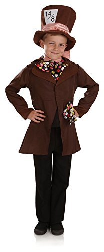 Book Week Costume For Kids (Mad Hatter Childs Book Week Boys Fancy Dress Costume - XL- 148cms)