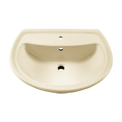 American Standard 0236.001.222 Cadet Pedestal Sink Basin with Center Faucet Hole Only, (American Standard Linen Faucet)