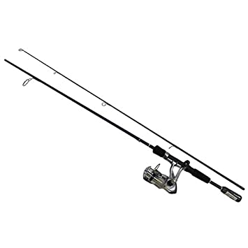 Daiwa DSK25-2B F662M D-Shock Freshwater Spinning Combo, 2 Bearings, 6 6 , Length, 2Piece Rod, Medium Power, Fiberglass Blank Material