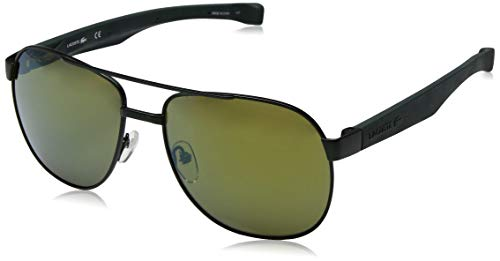 Lacoste Men's L186s Aviator Sunglasses, Green Matte, 57 ()