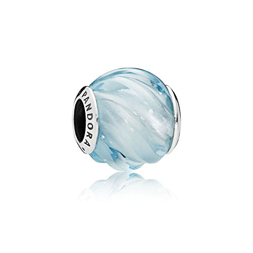 Pandora Blue Ripples Wave Charm, Aqua Blue Crystal, 797098NAB