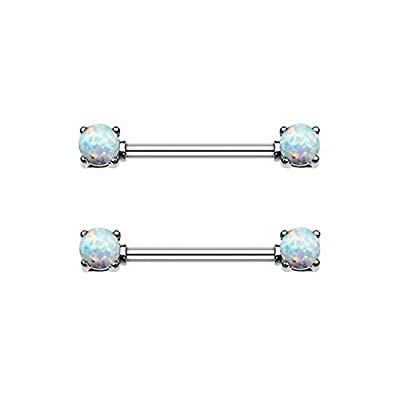 Cute Synthetic Opal Nipplerings Piercing Women Sexy for Women Surgical Steel 14G Best Christmas Gifts