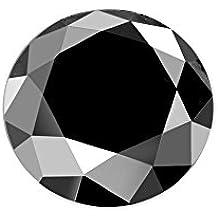 Black Diamond Round Brilliant Cut Loose Diamond Natural Earth-mined Enhanced