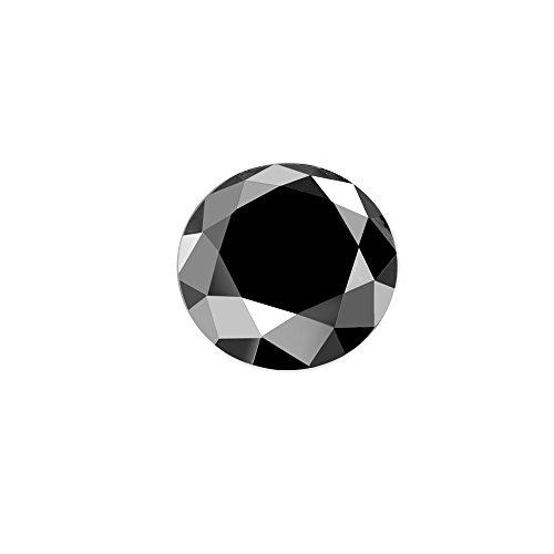 0.03 ct Black Diamond Round Brilliant Cut Loose Diamond Natural Earth-mined Enhanced (I1-I2)