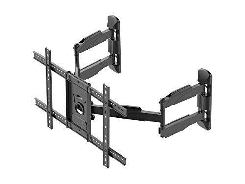 (Monoprice Cornerstone Series Full-Motion Articulating TV Wall Mount Bracket - for TVs 37in to 70in Max Weight 99lbs VESA Patterns Up to 600x400 Rotating)