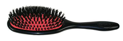 Porcupine Brush Bristle - Denman Medium Natural Bristle with Quill Porcupine Style Grooming Brush (D81M)