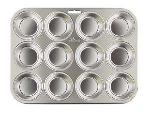 Fox Run Stainless Steel Muffin Pan 12, Bakeware, New